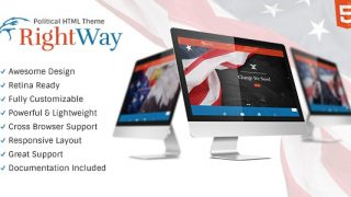 Right Way v1.0 – Politics & Activism Site Template