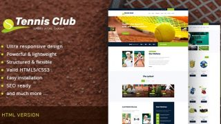 Tennis Club v1.0 – Sports Events Site Template
